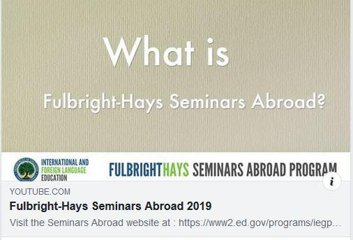 Fulbright-Hays Seminar Abroad Program in Israel